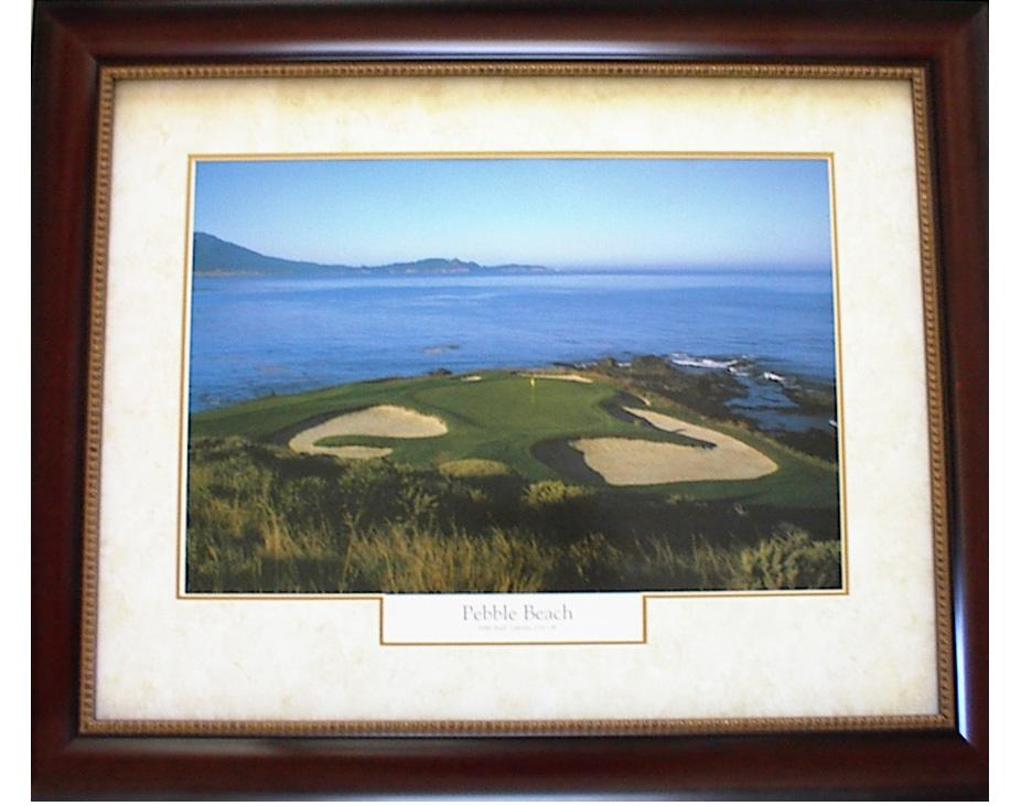 Golf Course Artwork - Pebble Beach Framed